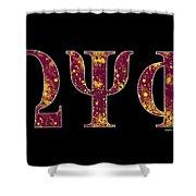 Omega Psi Phi - Black Shower Curtain
