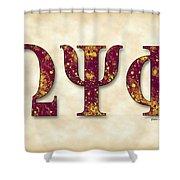 Omega Psi Phi - Parchment Shower Curtain