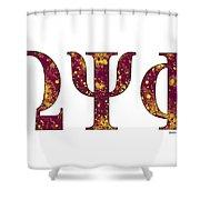 Omega Psi Phi - White Shower Curtain