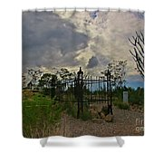 Ominous Boothill Cemetery Shower Curtain