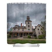 Ominous Clouds At Batsto Village Shower Curtain