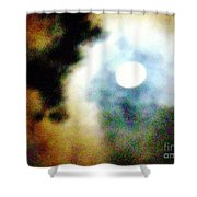 Ominous Moon Shower Curtain