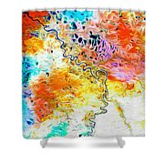 Omoloy River Tributaries Shower Curtain