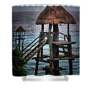 On 2 -ready-hut Hut Shower Curtain