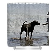 On A Beach 2 Shower Curtain