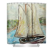 On A Cloudy Day - Impressionist Art Shower Curtain