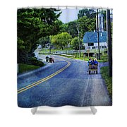 On A Country Road - Lancaster - Pennsylvania Shower Curtain