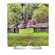 On A Hill At Valley Forge Shower Curtain