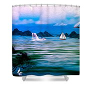 On A Lazy Day Series 3 Shower Curtain