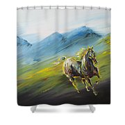 On A Road Shower Curtain
