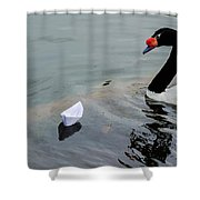 On Converging Course - Featured 3 Shower Curtain by Alexander Senin