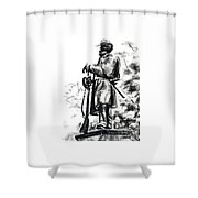 On Duty In Brigadoon  No Ch101 Shower Curtain