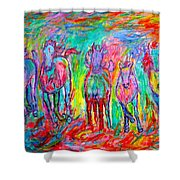 On Fire Shower Curtain