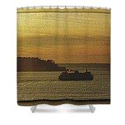 On Golden Sound Shower Curtain