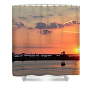 On Lake Maurepas Shower Curtain