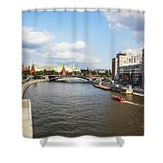 On Moscow River - Russia Shower Curtain