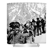 On Mount Blanc Shower Curtain