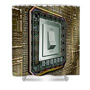 On Off Switch On Circuits Shower Curtain