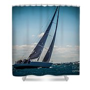 On Our Way Shower Curtain