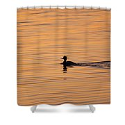 On Painted Waters Shower Curtain