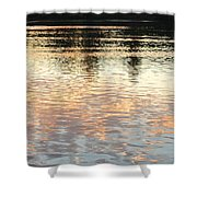 On Shimmering Pond Shower Curtain