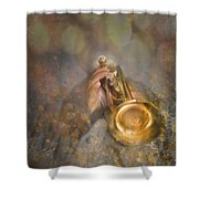 On Stage The Trumpeter Shower Curtain