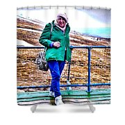 On The Summit Of Ben Nevis Shower Curtain
