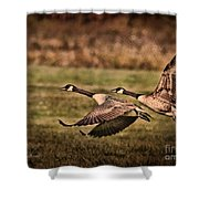 On Takeoff Shower Curtain