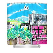 On The Alsace Wine Route Shower Curtain