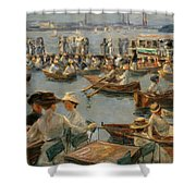 On The Alster In Hamburg Shower Curtain