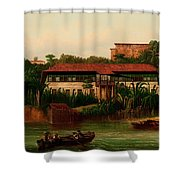 On The Banks Of The River Shower Curtain