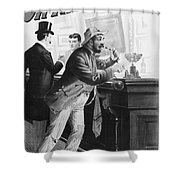 On The Bowery, 1894 Shower Curtain