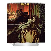 On The Brink, 1865 Shower Curtain
