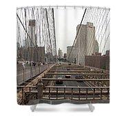 On The Brooklyn Bridge Shower Curtain