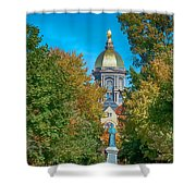 On The Campus Of The University Of Notre Dame Shower Curtain