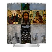 On The Cross Shower Curtain