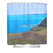 On The Dunes Perranporth Shower Curtain