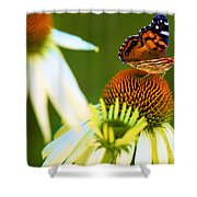 On The Edge Of Glory Shower Curtain