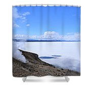 On The Edge Of Lake Yellowstone Shower Curtain