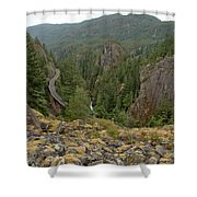 On The Edge Of The Cheakamus River Gorge Shower Curtain