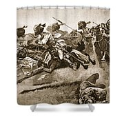 On The Expedition To Pao-ting-fu A Shower Curtain by Stanley L. Wood
