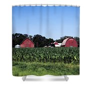 On The Farm In Belle Plaine Shower Curtain