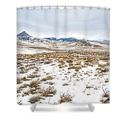 On The Fence Line Shower Curtain by Fran Riley