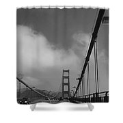 On The Golden Gate Bridge  Shower Curtain