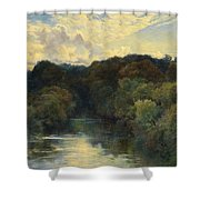 On The Greta Yorkshire 1890 Shower Curtain