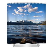 On The Lake Shower Curtain