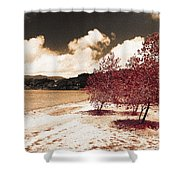 On The Lake Shore Shower Curtain