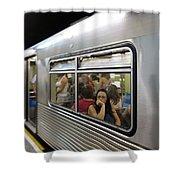 On The Metro - Sao Paulo Shower Curtain