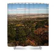 On The Path To The Summit Shower Curtain