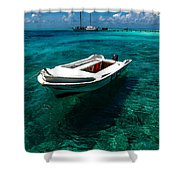 On The Peaceful Waters. Maldives Shower Curtain